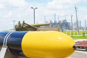 The torpedo exhibit at Golden Triangle Veterans Memorial Park in Port Arthur will soon be paired with an engraved memorial stone honoring area submarine veterans.