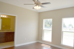The master bedroom of a spec home at 2732 Terrace Ave., Groves.