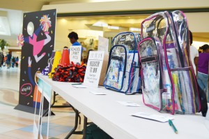 "Students could sign up for a school supplies give-a-way or take selfies with festive props in their school colors during Central Mall's first ""Pep it Up"" spirit rally and back-to-school fashion show Saturday afternoon in Port Arthur."