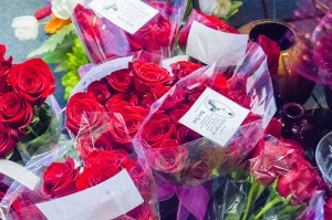 Carolyn Harris, owner of Harris Florist on Avenue H in Nederland, ordered 160 dozen roses to hand out during the shop's 21st annual Good Neighbor Day rose give-a-way Wednesday morning. Each dozen roses had a card instructing the recipient to keep one rose for themselves and give away the remaining 11.