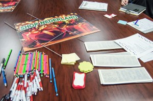 Nederland business owners and representatives could claim free promotional items to boost shopping and tourism throughout the city during a town hall meeting Wednesday morning in the NEDC office on Boston Avenue.