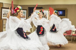 "Performers with the Mexican Heritage Folkloric Dancers present the ""State of Veracruz"" for the Port Arthur Public Library's ""A Day of Art Appreciation"" Saturday."