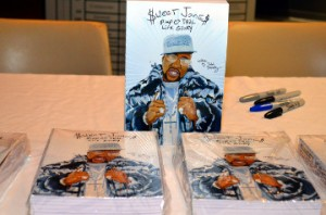 "Copies of ""Sweet Jones: Pimp C's Trill Life Story,"" written by Ozone Magazine founder and author Julia Beverly."