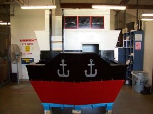 A ship replica playhouse, which was created by staff and offender volunteers at the Richard P. LeBlanc Unit, will be on view at Parkdale Mall in Beaumont as part of Casas for CASA fundraiser. Courtesy photo