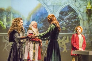 """The cast of the Port Arthur Little Theatre's production of """"The Hobbit"""" rehearse a scene from the upcoming show Wednesday night."""