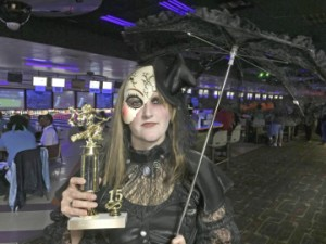 Jennifer Macke won the individual first place trophy.  Roger Cowles/The News