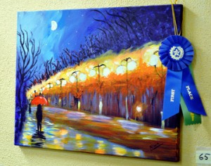 Alivia McClain's first place and Robert Pastorella Sr. Memorial Award winning painting. Mary Meaux/The News