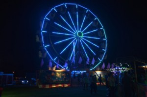 The Ferris wheel at Groves Pecan Festival during opening night of the Groves Pecan Festival at Lion's Park on Thursday. Mary Meaux/The News