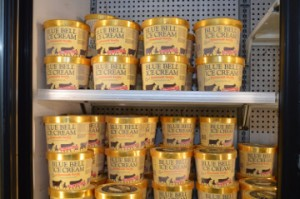 The shelves are stocked with Blue Bell ice cream at Bruce's Market Basket in Groves. Mary Meaux/The News