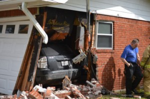 A close-up view of the damage. Mary Meaux/The News