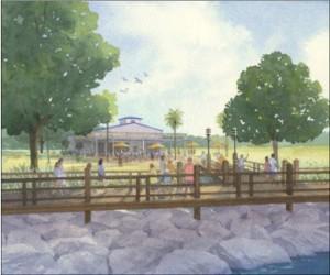 Scenarios for development along Port Neches' riverfront. Photo courtesy of Coastal Engineering
