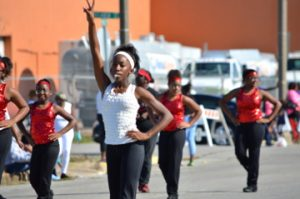 Lincoln Middle School students take part in the annual cavOILcade parade in Port Arthur on Saturday. Mary Meaux/The News