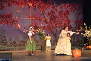 The fairy godmother casts a spell onstage for Cinderella at NHS Performing Arts Center. (Lorenzo Salinas/The News)