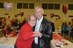 Linda and Roy Jones cut a rug together at the annual Valentine party hosted by Walgreens. (Lorenzo Salinas/The News)